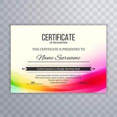 証明書テンプレート賞卒業証書のカラフルな波のイラスト Award Template, Certificate Design Template, Wave Design, Circle Design, Wave Illustration, Waves Logo, Certificate Of Appreciation, Powerpoint Background Design, Creative Background