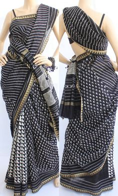 Sanganeri Print On Chanderi Saree for the unmatched sophistication.