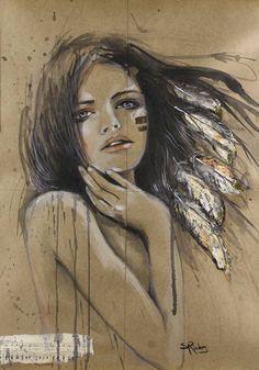 """Saatchi Art Artist Sara Riches; Painting, """"Would It Be Wrong To Kiss"""""""