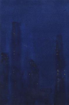 """""""London, Midnight"""" Freddie Davies. Gouache and ink. 2016. http://freddie-davies.wix.com/artist"""