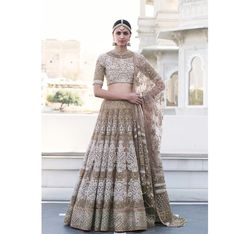 The latest collection of Bridal Lehenga designs online on Happyshappy! Find over 2000 Indian bridal lehengas and save your favourite once. Indian Bridal Wear, Indian Wedding Outfits, Pakistani Bridal, Bridal Outfits, Indian Outfits, Bridal Dresses, Indian Wear, Asian Bridal, Wedding Dresses For Girls