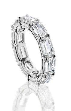 Boodles Ashoka baguette cut diamond eternity ring