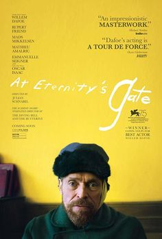 Directed by Julian Schnabel. With Willem Dafoe, Rupert Friend, Oscar Isaac, Mads Mikkelsen. A look at the life of painter Vincent van Gogh during the time he lived in Arles and Auvers-sur-Oise, France. Rupert Friend, Mads Mikkelsen, 2018 Movies, Top Movies, Great Movies, Movies Box, Movies Free, Vincent Van Gogh, Oscar Isaac