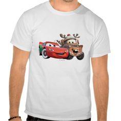 Lightning & Mater Tshirt   Disney Cars Christmas