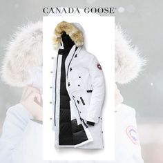 CANADA GOOSE ダウンジャケット・コート CANADA GOOSE Kensington Parka Fusion Fit イノセントなWhite Canada Goose Women, Canada Goose Jackets, Winter Jackets, Fashion, Winter Coats, Moda, Winter Vest Outfits, Fashion Styles, Fashion Illustrations