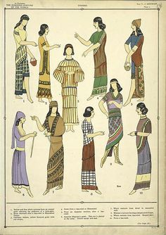 Mesopotamia fashion for women showed barely any skin. Mostly they wore shaws, tunics, or a shirt with a long skirt.