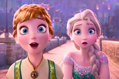 Disney frozen fever Anna is surprise by the birthday party that her sister Elsa did for her. And Elsa is surprise because the birthday party wit a as planed. Frozen Disney, Walt Disney, Elsa Frozen, Disney Pixar, Disney E Dreamworks, Frozen Songs, Frozen And Tangled, Disney Films, Disney Love