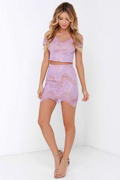 Royal Road Lavender Lace Two-Piece Dress at Lulus.com!