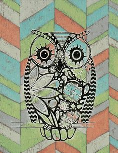 Whimsical Owl Art! - Perfect for the home, nursery, or as a special gift! on Etsy, $5.00
