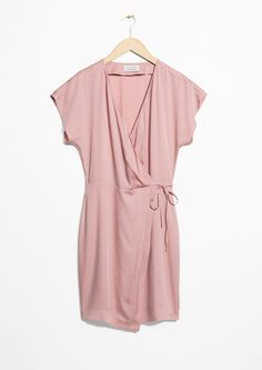 & Other Stories image 1 of Wrap Dress in Pink