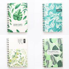 24f0727660 #ad Random Leaf Print Spiral Notebook 60sheets | ROMWE | Price: $1.95 |  Notebooks Notebooks & Writing Pads. #romwe #fashion #womens #clothes  #dresses # ...