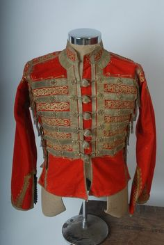 Victorian French C19th Ottoman Empire Military  Jacket Gold Embroidered Tunic 1840s Like new. $550.00, via Etsy.
