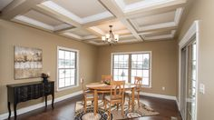 Excalibur Dining / Breakfast Nook - The breakfast nook in this Excalibur model features coffered ceilings