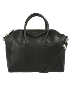 eb68551c4193 Black Antigona Sugar Goatskin Satchel  zulily  zulilyfinds Leather Satchel  Handbags