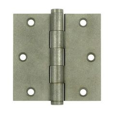 """3 1/2"""" x 3 1/2"""" with Square Corners Plain Bearing Brass Hinges - Multiple Distressed Finishes - Sold in Pairs"""