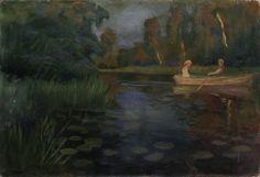 Otto Hennig (1871-1920): Aften på elven