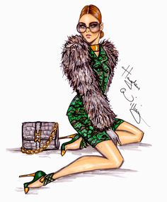 #Hayden Williams Fashion Illustrations  #'Envied' by Hayden Williams