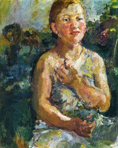 Oskar Kokoschka Paintings   Oskar Kokoschka - A Girl with Flowers   Art-Expressionism-Kokoschka ...