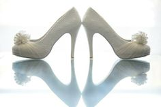 White wedding shoes--Blue Sky Photography