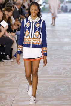 Tory Burch Spring 2017 Ready-to-Wear Fashion Show - Najiyah Imani