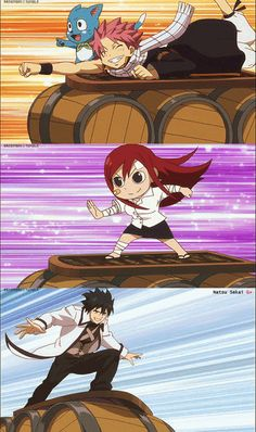 Anyone else get the feeling Juvia is running really fast so he'll pass her again and again?