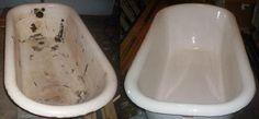 Tub Paint, Painting Bathtub, Cast Iron Tub Refinish, Bathtub Repair, Bathtub Drain, Clawfoot Tub Bathroom, Washroom, Tile Refinishing, Copper Tub
