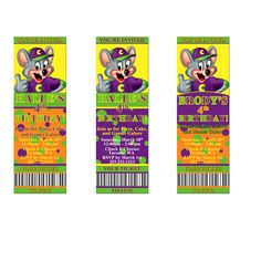 Chuck E Cheese Birthday Party Invitation By Themintdesigncompany - Chuck e cheese birthday invitation template