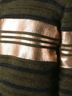 Givenchy metallic panel striped sweater
