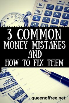 Do you make these money mistakes? Quick, painless solutions to kick your problem areas to the curb.