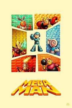 Awesome Artwork of a Mega Man Who Has 131 Titles Available Over the Past 30 Years