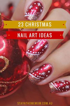 I Love those Christmas Nail Art Ideas! I Love those Christmas Nail Art Ideas! Holiday Nail Art, Christmas Nail Art Designs, Winter Nail Art, Winter Nails, Xmas Nail Art, Xmas Nails, Diy Nails, Christmas Nails, Christmas Ideas