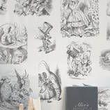 Alice in Wonderland Illustrated Wallpaper
