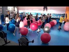 CARDIO-FITBALL DRUMS - Masterclass presentación curso 2012/13 - Aqua Cdu (CUVI) - YouTube