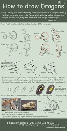 How to Draw Dragons - Pt. 1 by on DeviantArt How to Draw Dragons - Pt. 1 by on Creature Drawings, Animal Drawings, Art Drawings, Dragon Drawings, Drawing Techniques, Drawing Tips, Dragon Poses, Dragon Anatomy, Instruções Origami