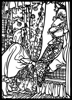 Rackham Fairy Tale Stained Glass Coloring Book Dover Publications