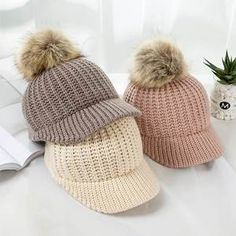 Children's casual cotton caps are super soft and gentle forms. Perfect for kids from birth up to 3 years old. Pink Kids, Kids Girls, Pom Pom Baby, Girls Winter Hats, Cheap Hats, Soft And Gentle, Kids Hats, My Collection, Baby Accessories