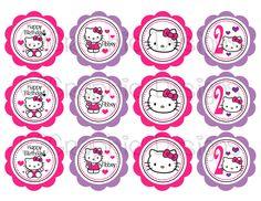 187 best hello kitty images on pinterest birthday ideas hello diy printable hello kitty cupcake toppers 700 via etsy maxwellsz