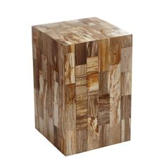 Petrified Wood Side Table – Natural - NEW
