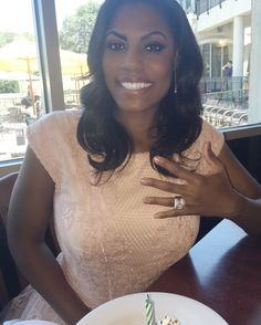 Omarosa is engaged to pastor John Allen Newman, she confirmed to Us Weekly on Monday, July 25 — get the details Celebrity Engagement Rings, Engagement Ring Photos, Pastor John, Celebs, Celebrities, What Is Like, Celebrity News, Wedding Details, T Shirts For Women