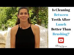 If you've ever wondered how best to clean your teeth after eating lunch, you're not alone. Dental Hygiene, Bad Breath, Teeth, Pregnancy, Wellness, Lunch, Cleaning, This Or That Questions, Youtube
