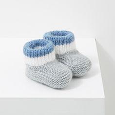 Chaussons bleus à mini pois dotés d'un petit nœud YxnLNU