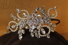 Vintage and red carpet headband by Jo Barnes