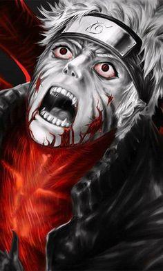 Naruto transforming into Kyuubi form ♥ #Scarry #Creepy #Pain