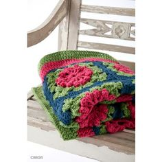 Free Easy Crochet Blanket Pattern >> @yarnspirations #crochet #afghan
