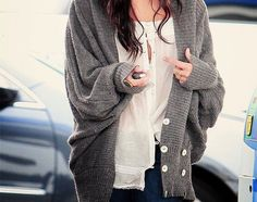 Love the look of this comfy oversized sweater