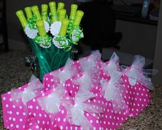 Party favor ideas for princess party (with favors for the boys too)