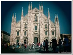 The awe-inspiring Duomo Cathedral in Milan. Beautiful centerpiece to the main plaza.