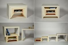 Stacking Nesting Table http://www.icreatived.com/2014/02/stacking-nesting-table.html