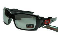 Oakley Flak Jacket Sunglasses Black Frame Silver Lens 0341