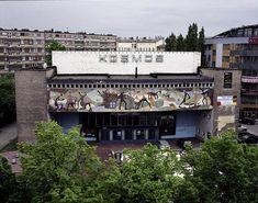Cinema Kosmos in Szczecin 1959 designed by Andrzej Korzeniowski Cinema, Mansions, House Styles, Polish, Design, Movie Theater, Mansion Houses, Movies, Varnishes
